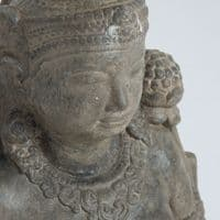 Stone Bust With Green Detail For Sale - ChicParadisLux